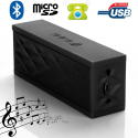 Mini enceinte Bluetooth portable stereo smartphone tablette Noir - Enceinte Bluetooth - www.yonis-shop.com