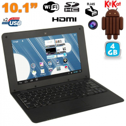 Mini PC Android ultra portable netbook 10 pouces WiFi 4 Go Noir - Mini PC Android - www.yonis-shop.com