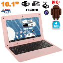 Mini PC Android ultra portable netbook 10 pouces WiFi 4 Go Rose - Netbook Android - www.yonis-shop.com