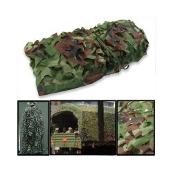Filet de camouflage militaire 2 x 3 mètres forêt / jungle kaki marron