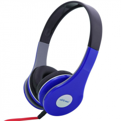 Casque stereo anti bruit casque arceau isolation phonique bleu - Casque audio - www.yonis-shop.com