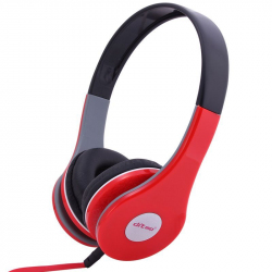 Casque stereo anti bruit casque arceau isolation phonique rouge - Casque audio - www.yonis-shop.com