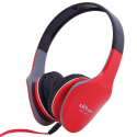 Casque stereo anti bruit casque arceau isolation phonique sonore rouge - Casque audio - www.yonis-shop.com