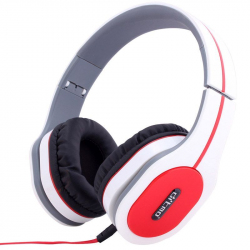Casque arceau réglable pliable anti bruit isolation phonique blanc - Casque audio - www.yonis-shop.com