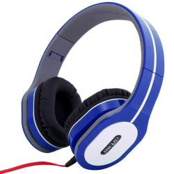 Casque arceau réglable pliable anti bruit isolation phonique Bleu - Casque audio - www.yonis-shop.com