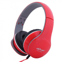 Casque audio pliable arceau stereo réducteur de bruit Jack 3.5mm rouge - Casque audio - www.yonis-shop.com