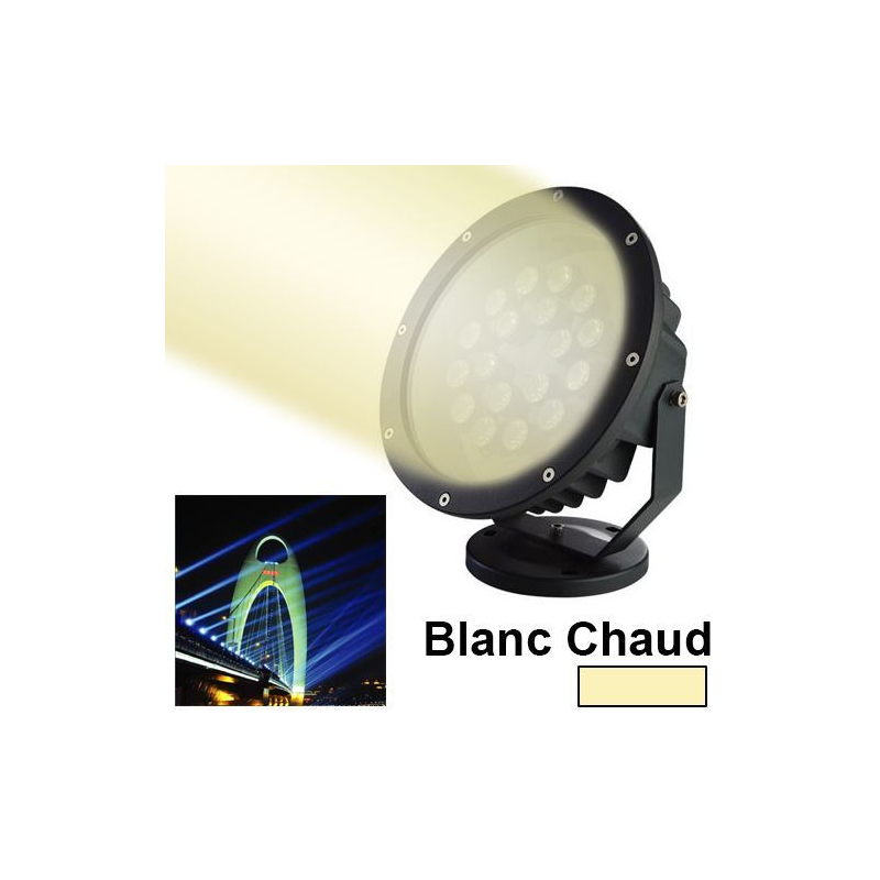 projecteur led blanc chaud spot ext rieur clairage jardin 15w 1200lm. Black Bedroom Furniture Sets. Home Design Ideas
