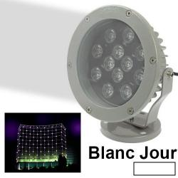 Projecteur extérieur LED spot blanc jour aluminium jardin 12W 960LM