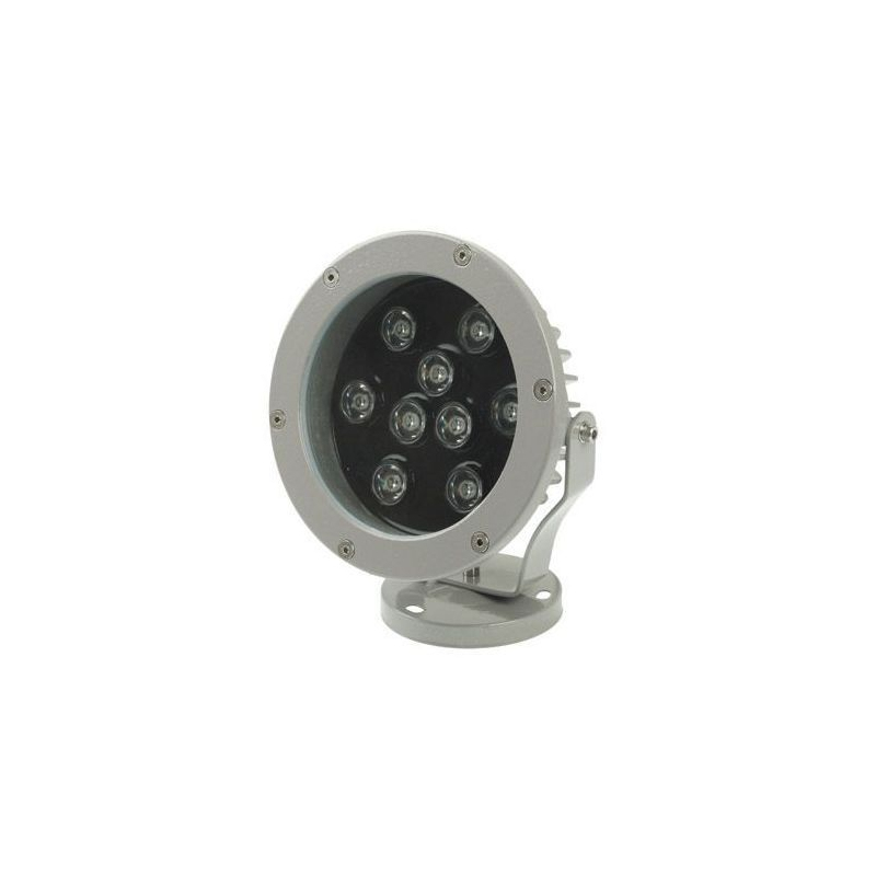 projecteur ext rieur led spot blanc chaud aluminium jardin 9w 720lm. Black Bedroom Furniture Sets. Home Design Ideas