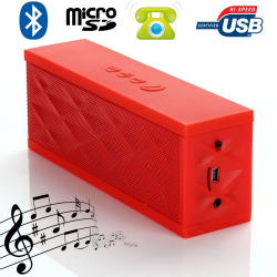 Mini enceinte Bluetooth portable stereo smartphone tablette Rouge Enceinte Bluetooth YONIS