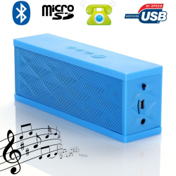 Mini enceinte Bluetooth portable stereo smartphone tablette Bleu - Enceinte Bluetooth - www.yonis-shop.com