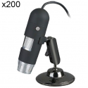 Mini microscope électronique zoom x200 USB portable 8 LED 1.3 MP - Microscope - www.yonis-shop.com