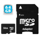 Carte mémoire Micro SD SDXC 64 Go Gb classe 10 tablette smartphone MP3 - Carte mémoire Micro SD - www.yonis-shop.com