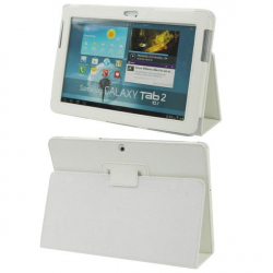 Housse Samsung Galaxy Tab 2 GT P5100 10.1 pouces support blanc