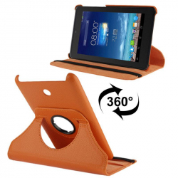 Housse en cuir Asus cover flip Fonepad 7 pouces holder 360° orange - Housse tablette ASUS 7 pouces - www.yonis-shop.com
