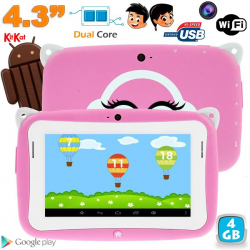 Tablette tactile enfant YoKid Mini 4.3 pouces Android 4.4 rose 4Go