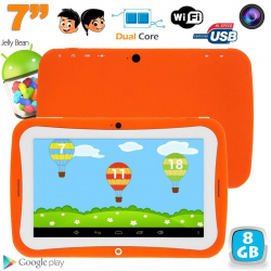 Tablette tactile enfant éducative 7 pouces Android 4.2.2 orange 8Go