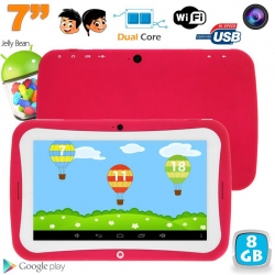 Tablette tactile enfant éducative 7 pouces Android 4.2.2 rose 8Go - Tablette tactile enfant - www.yonis-shop.com