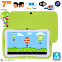 Tablette tactile enfant éducative 7 pouces Android 4.2.2 vert 8Go - Tablette tactile enfant - www.yonis-shop.com