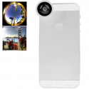 Objectif smartphone fish-eye grand angle 180° zoom 0.67x macro blanc Autres accessoires smartphone YONIS