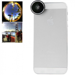 Objectif universel smartphone fish-eye grand angle 180° blanc