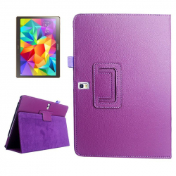 Housse Samsung Galaxy Tab S SM T800 10.5 pouces support cuir Violet