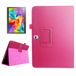 Housse Samsung Galaxy Tab S SM T800 10.5 pouces support cuir Rose