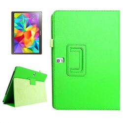 Housse Samsung Galaxy Tab S SM T800 10.5 pouces support cuir Vert