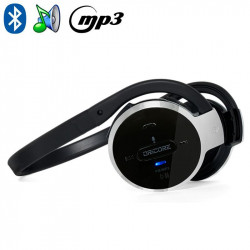Casque audio Bluetooth sportif lecteur MP3 kit mains-libres radio FM - www.yonis-shop.com