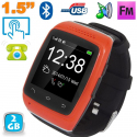 Montre connectée Android Smartwatch bluetooth tactile 1.5 pouces Rouge Montre connectée / Smartwatch YONIS