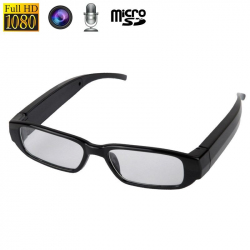 Lunettes caméra photo microphone 5MP micro SD Full HD 1080p Noire