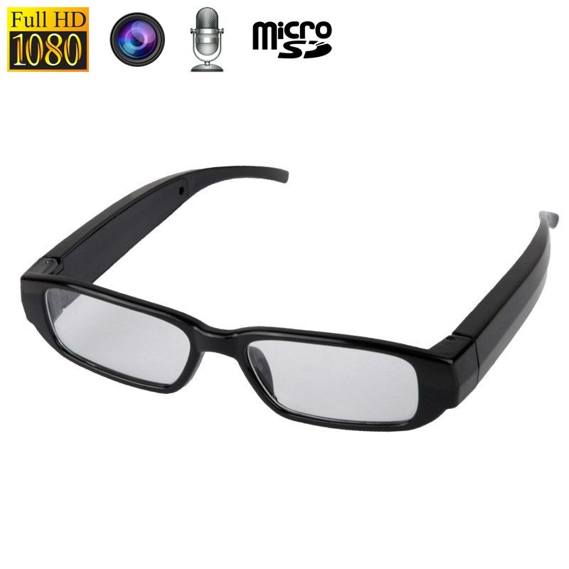02f8310150a Lunettes caméra photo microphone 5MP micro SD Full HD 1080p Noire