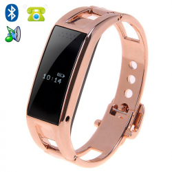 Montre connectée Bluetooth iPhone Android OLED Appel SMS Podomètre Or