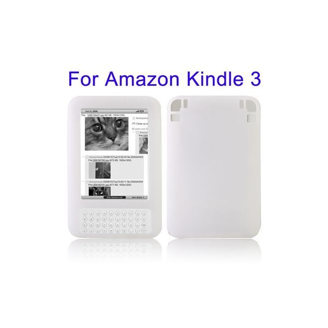 Etui silicone Amazon Kindle 3 housse coque blanc 6 pouces - Housse tablette Amazon - www.yonis-shop.com