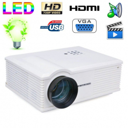 Vidéoprojecteur LED 170W 3000 Lumens Full HD 1080P Home cinema Blanc - www.yonis-shop.com