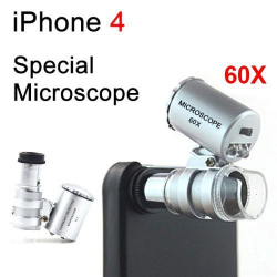 Microscope pour iPhone 4 et 4S zoom 60X smartphone Autres accessoires iPhone YONIS