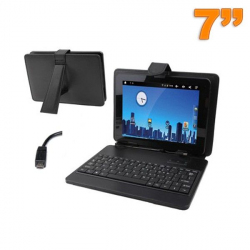 Housse clavier tablette tactile 7 pouces support Micro Mini USB noir - Housse tablette - www.yonis-shop.com