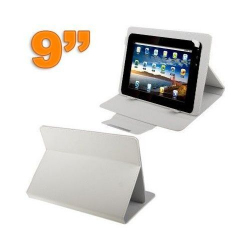 Housse universelle tablette tactile 9 pouces support Luxe Blanc