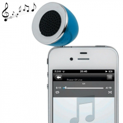 Mini enceinte portable jack 3.5 MP3 Smartphone Tablette bleu - Enceinte portable - www.yonis-shop.com