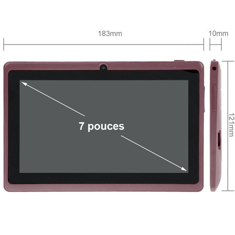 Tablette tactile android 4 4 kitkat 7 pouces dual core 4go - Tablette tactile 7 pouce ...