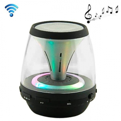 Enceinte portable sans fil Bluetooth LED lumineuse kit main libre noir - Mini enceinte Bluetooth - www.yonis-shop.com