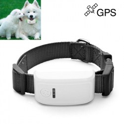 Collier traceur GPS GSM GPRS animaux chien chat anti perte noir