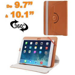 Housse universelle tablette 9.7 - 10.1 pouces support 360° Marron