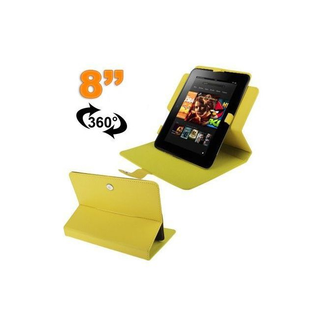 Protection tablette housse universelle 8 pouces 360° étui jaune - Housse tablette - www.yonis-shop.com