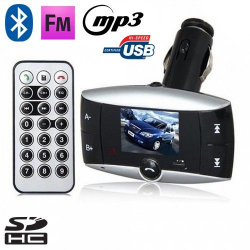 Transmetteur FM voiture Bluetooth MP3 USB Carte SD Jack 3.5mm - Transmetteur FM auto - www.yonis-shop.com