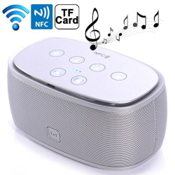 Enceinte Portable Bluetooth NFC Kit Mains libres Micro SD MP3 Argent - Tout le stock - www.yonis-shop.com