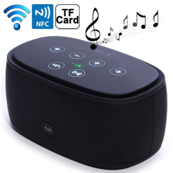 Enceinte Portable Bluetooth NFC Kit Mains libres Micro SD MP3 Noir