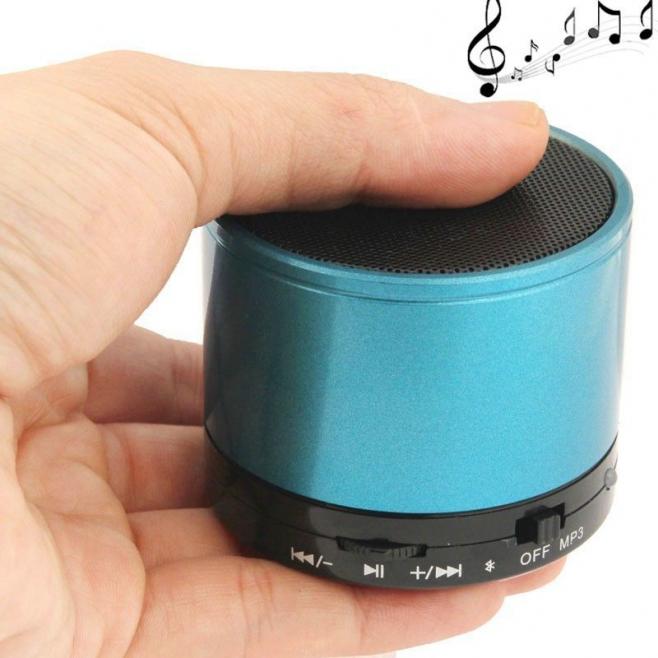 Mini Enceinte Bluetooth universelle smartphone kit mains-libres Bleu - Mini enceinte Bluetooth - www.yonis-shop.com