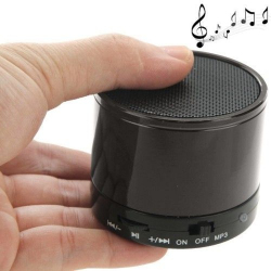 Mini Enceinte Bluetooth universelle smartphone kit mains-libres Gris - Enceinte Bluetooth - www.yonis-shop.com