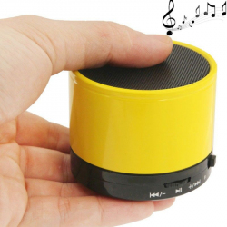 Mini Enceinte Bluetooth universelle smartphone kit mains-libres jaune - Enceinte Bluetooth - www.yonis-shop.com